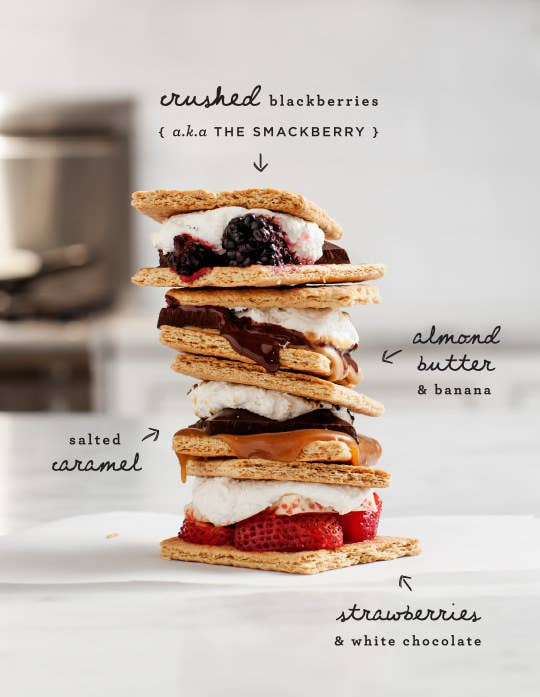 S'mores are perfect, just the way they are. But, for variety's sake... Recipe here.