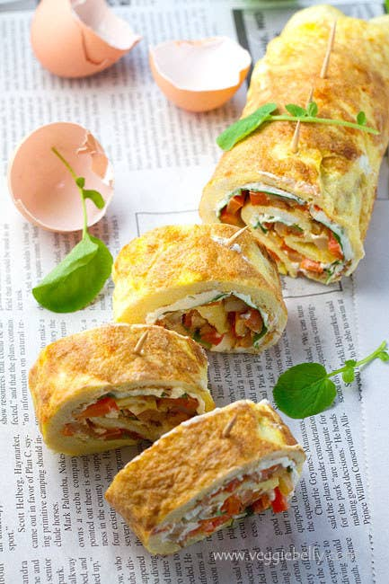 Turn your omelette into finger food. Recipe here.
