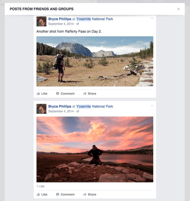 If you're traveling and want some ideas, search the location and peruse posts and photos from friends.