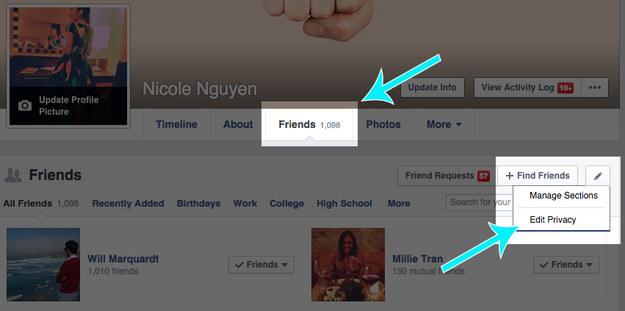 Hide your Facebook friends list.