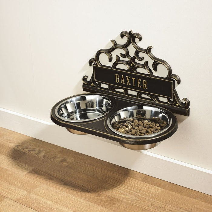 This hanging feeder eliminates the problem of accidentally kicking the pet bowls, while simultaneously looking super classy. Although the product itself isn't DIY, you'll have to install it yourself!
