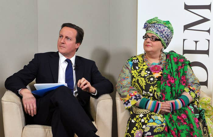 David Cameron and Kids Company CEO Camila Batmanghelidjh in 2010.