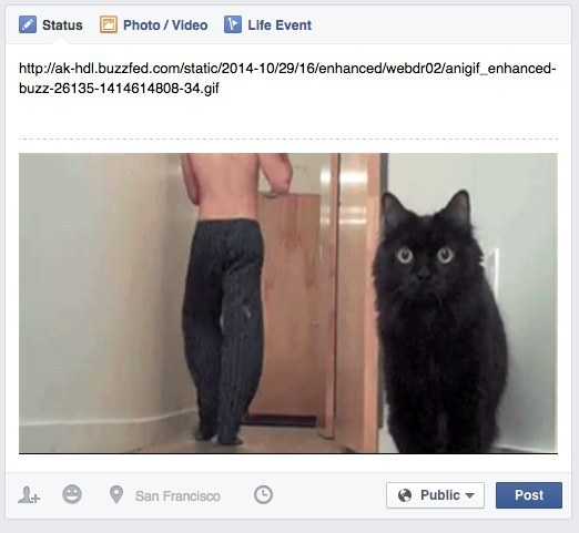 Post GIFs to Facebook.