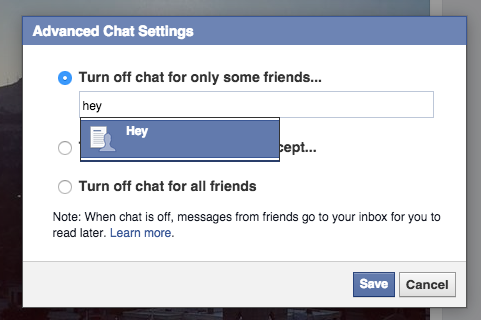 If random friends keep bugging you, hide your online chat status.