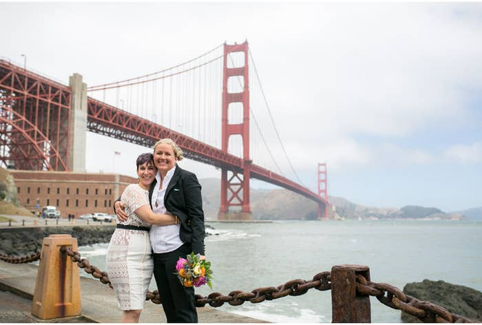 Andi and Helen were married on Monday, June 29th 2015 at San Francisco's City Hall. See more photos from their wedding here.