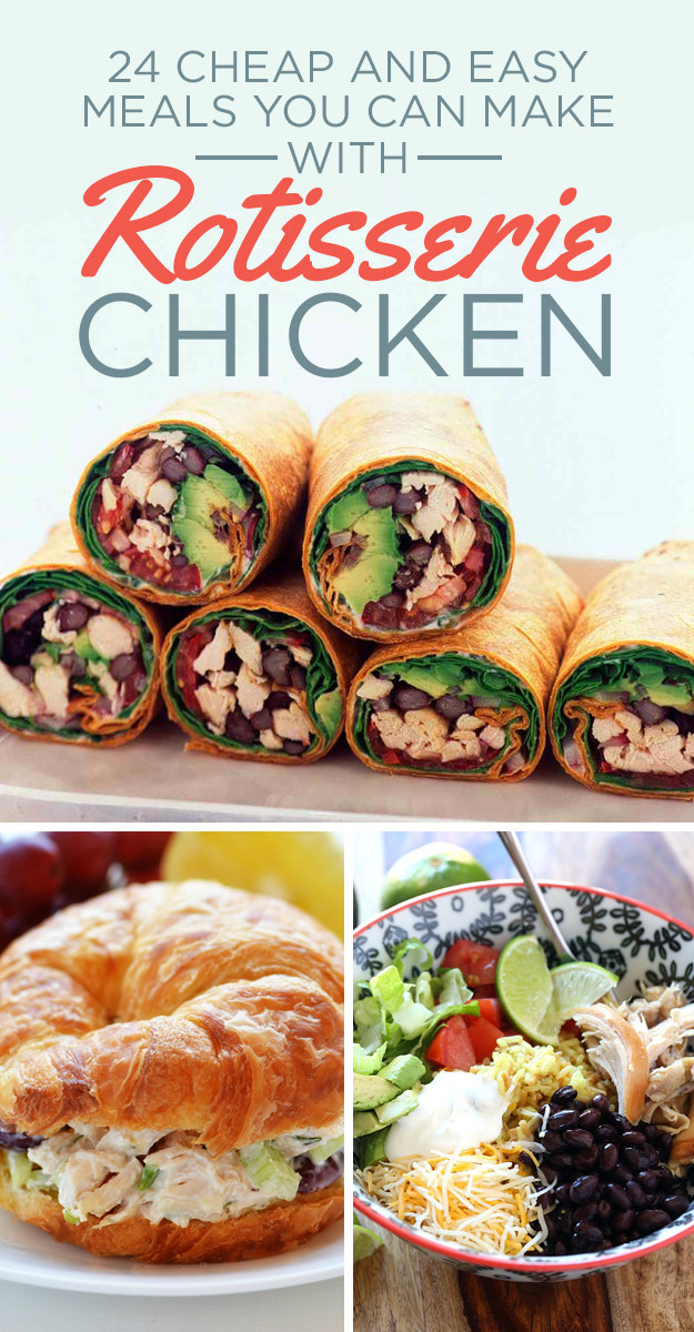 Recipes using rotisserie chicken meat