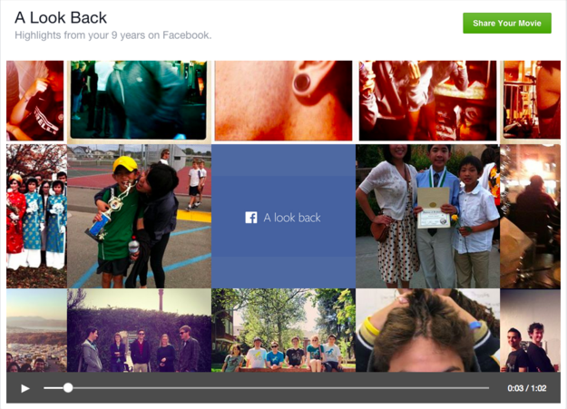 """Create a """"Look Back"""" video of your entire Facebook history."""