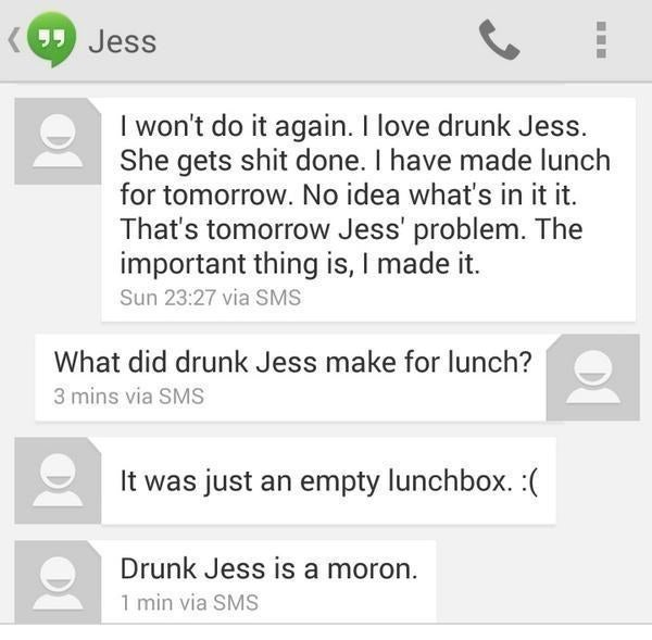 Jess Who Probably Shouldnt Be Allowed To Drink Again