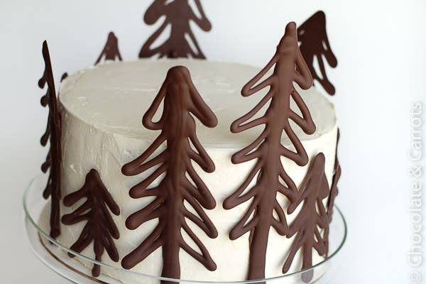 Make Your Own Chocolate Cake Toppers Using Melted