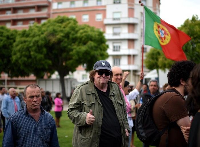 Michael Moore in Lisbon.