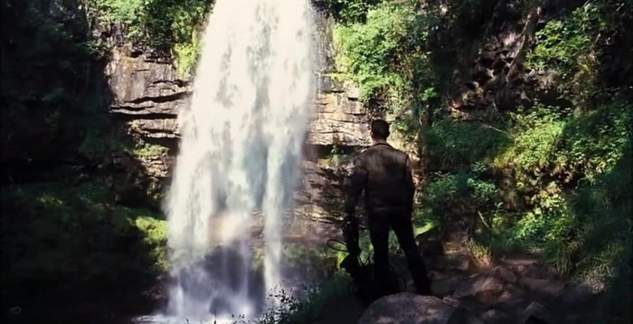Welsh-born Christan Bale may call himself an English-man, but that doesn't stop him returning to Wales to film his movies. This fantastic waterfall acted as the secret doorway to the batcave.