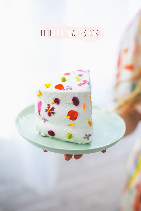 Tutorial Cake With Edible Flowers at Design Love Fest & 28 Insanely Creative Ways To Decorate A Cake That Are Easy AF