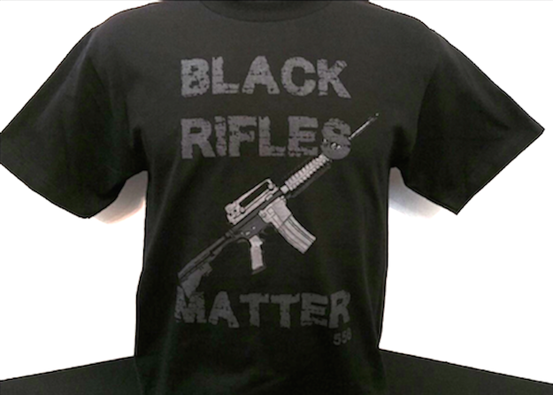 "T-Shirt Sold At Law Enforcement Convention Claims ""Black Rifles Matter"""