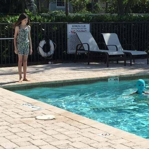 And other people who want to use the pool. It's also great for Lady in the Water cosplay. Or a Pussy Riot tribute band.