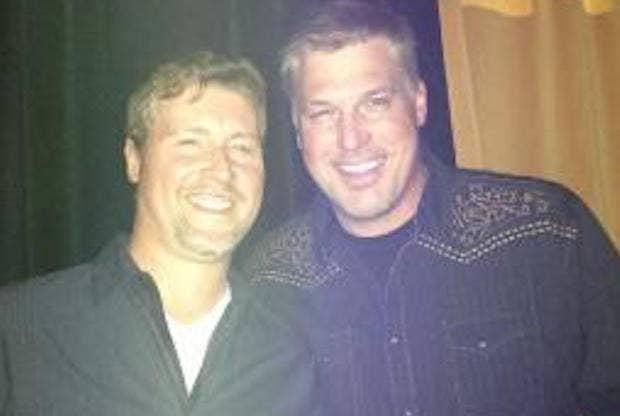 """Mueller, right, with his then-co-host Ryan """"Ryno"""" Kliesch."""