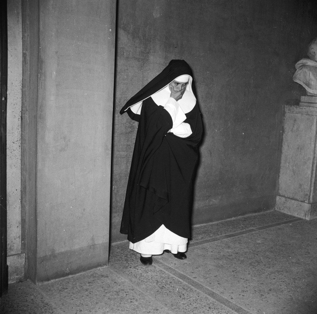 A Catholic nun in Rome. 1955.