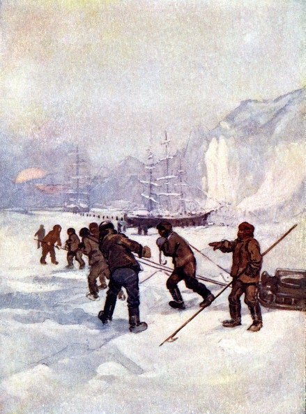 """""""The ships were called the Terror and the Erebus,"""" 1847, (1905)."""