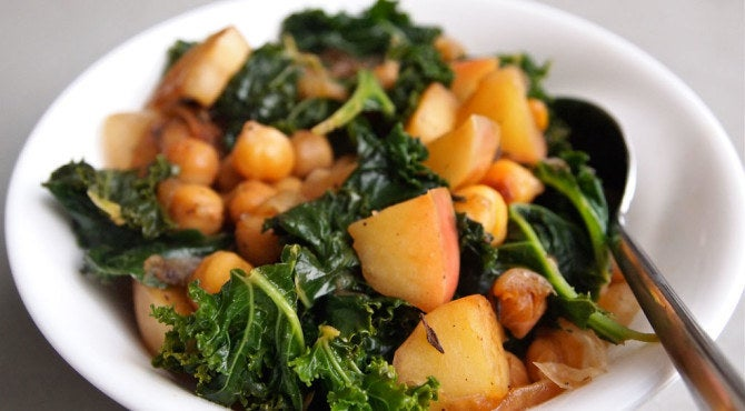 Add a couple of diced apples to this hash, and you've got yourself a super healthy and fast lunch. Recipe here.