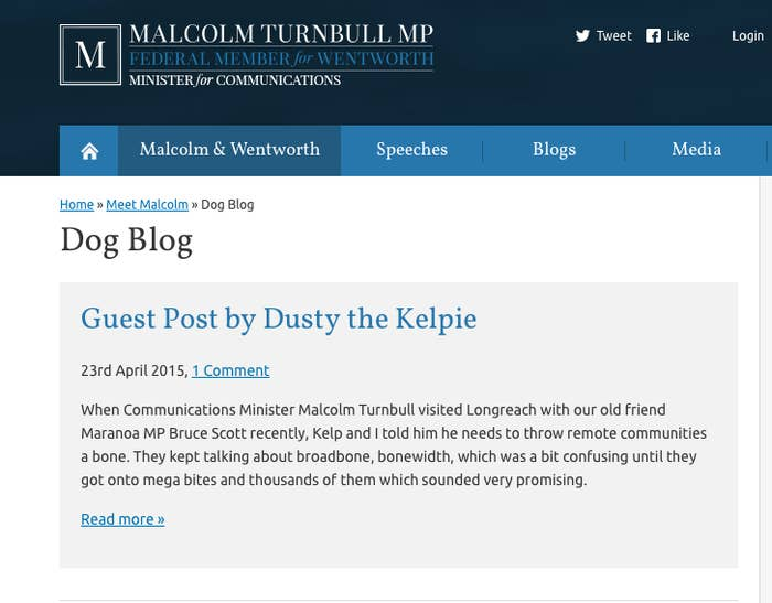 Reminder That Australia's New Prime Minister Has A Blog