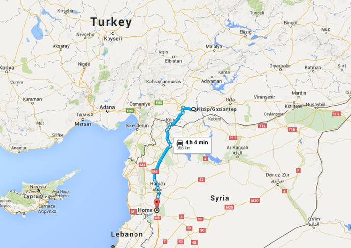 Here Is The Long Route Many Refugees Take To Travel From Syria To - Map of syria and turkey