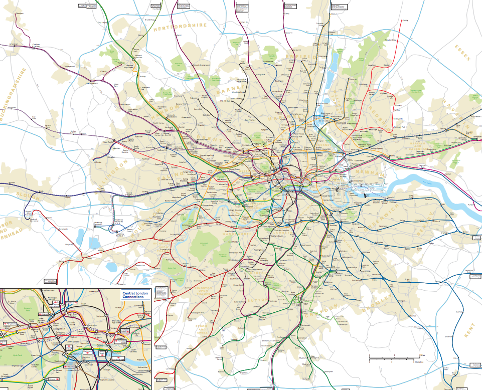 This Physically Accurate Tube Map Will Change The Way You Think – Real London Underground Map