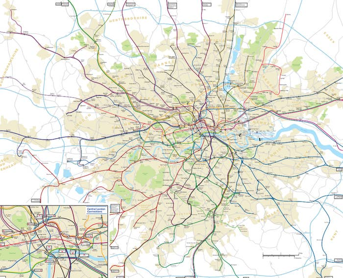 Train Map London Underground.This Physically Accurate Tube Map Will Change The Way You Think