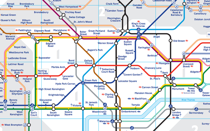 Undeground Map Of London.This Physically Accurate Tube Map Will Change The Way You Think