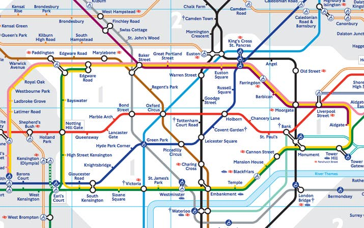 you will no doubt be familiar with the standard london underground map based on the classic design first created by harry beck in the 1930s