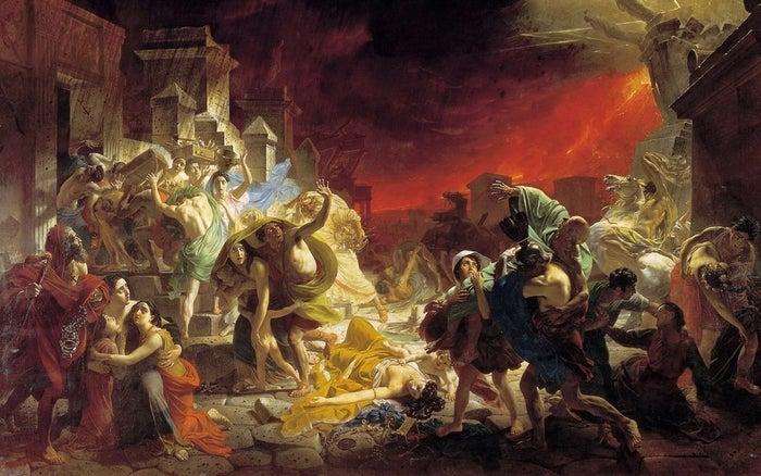 The Last Day of Pompeii by Karl Pavlovich Bryullov (1799-1852)