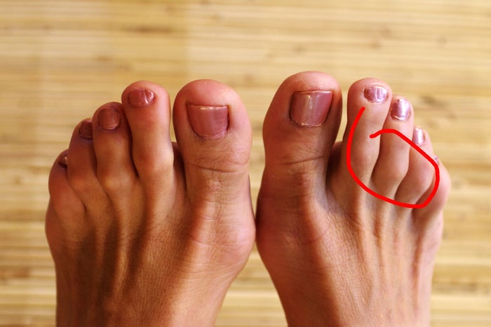The natural curves of your feet are the perfect accessories for your toenail art.