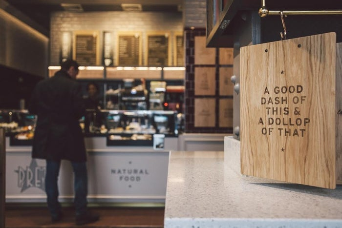 Offered at a Pret outlet in central London, the evening menu is available from 5pm-10.45pm Monday-Saturday, and 4pm-8pm on Sundays.