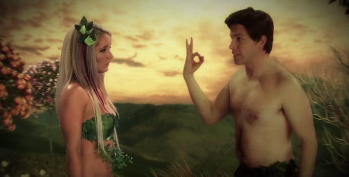 "The Adam and Eve episode features Youtube star Jenna Marbles arguing with series co-creator Lloyd Ahlquist about married life.Dale offers deadpan explanations for such lines as ""you take two hours to come, three more to get dressed."" (His analysis: ""women can take a long time to reach orgasm, as opposed to the short time for men."")And the line ""you smell like ballsacks and nachos."" (""Eve is saying that Adam smells bad. Probably true since modern hygienic practices had not been invented."")So what exactly did Dale say to get himself canned? Conservative spokesman Kory Teneycke would only say his comments were ""incompatible with our party."" Some Random Political Blog also reported separate posts by Dale, including one on the number of black actors in Hollywood films.But rather than opposing diversity, he described the amount of people of colour in movies as ""less than ideal"" and encouraged moviegoers to only spend their money on films with more diverse casts.Dale also said creationism should be taught side-by-side with evolution in schools because ""students should hear both sides."" He said abortions should be available in cases such as rape but ""not just for being irresponsible.""This actually puts him somewhere around the centre of the Conservative Party on the issue.Even the guy who wrote the blog post on Dale is now outraged that they fired him."