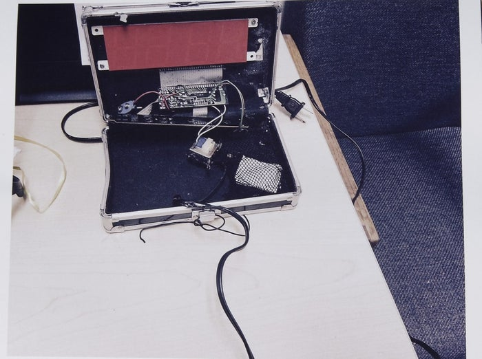 The homemade clock that Ahmed Mohamed brought to school.