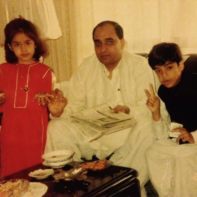 The author with her family celebrating Eid in the Eighties.