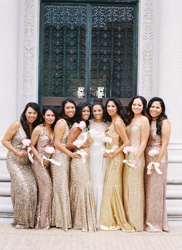 31 Real-Life Bridal Parties Who Nailed The Mix &39N&39 Match Look