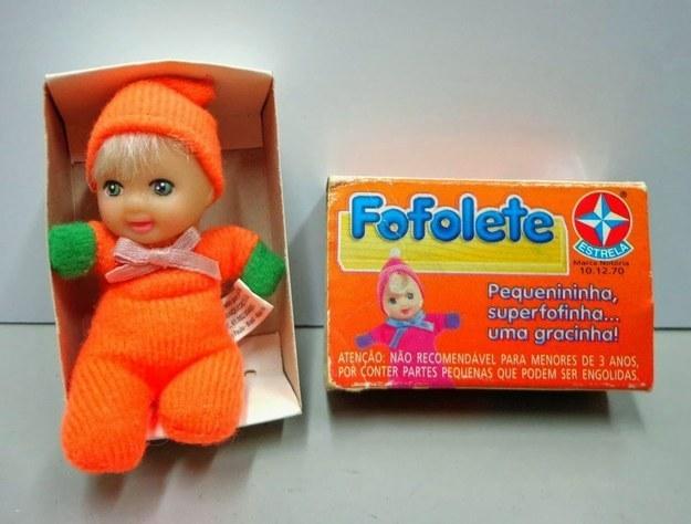 A Fofolete, que vinha em uma caixinha minúscula.