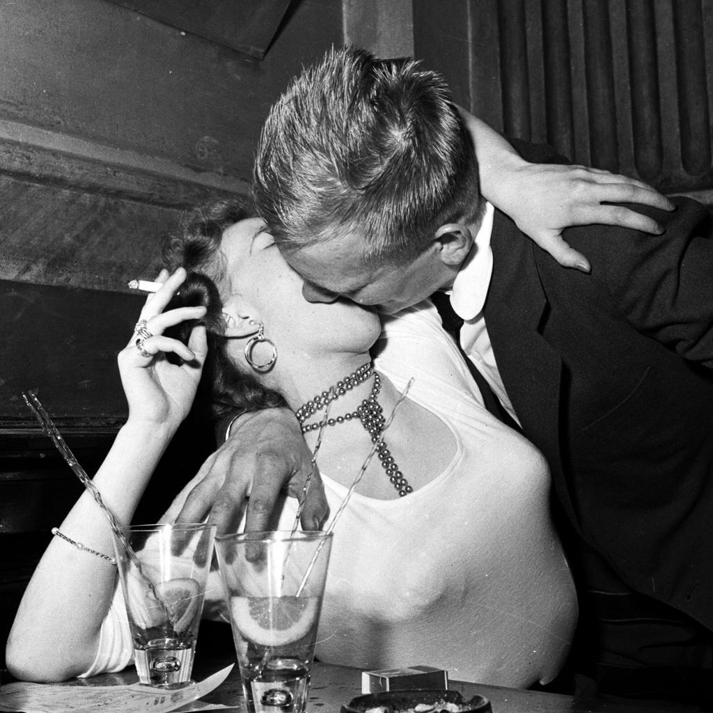 A couple at Scandinavia's most popular dance club, 'Nalen' in Stockholm. April 1956.