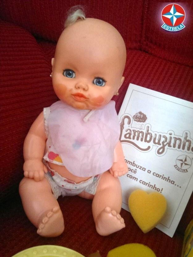 A Lambuzinha, cuja habilidade era... ficar com a cara lambuzada.
