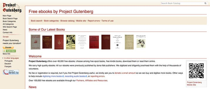 Project Gutenberg has over 49,000 e-books for free, with more being added regularly. You can download them to your phone or Kindle – or just keep one open in a tab to dip in and out of. All the books featured are out of copyright, so you can expect plenty of Sherlock Holmes, as well as The Call of the Wild, Wuthering Heights, and more.
