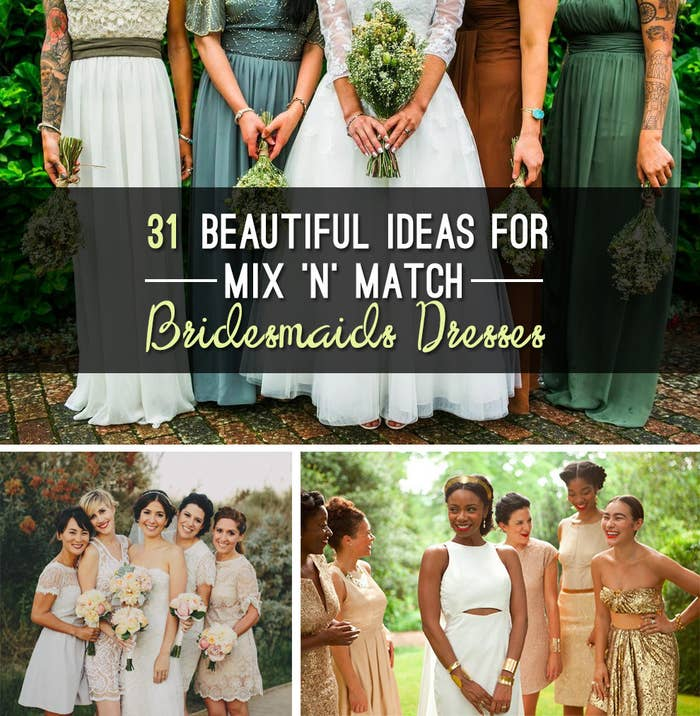 874f92f7cf8a 31 Real-Life Bridal Parties Who Nailed The Mix 'N' Match Look