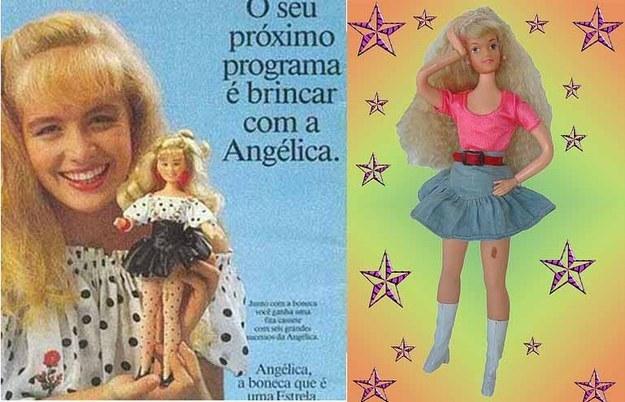 A Angélica, que tinha a famosa pinta na perna.