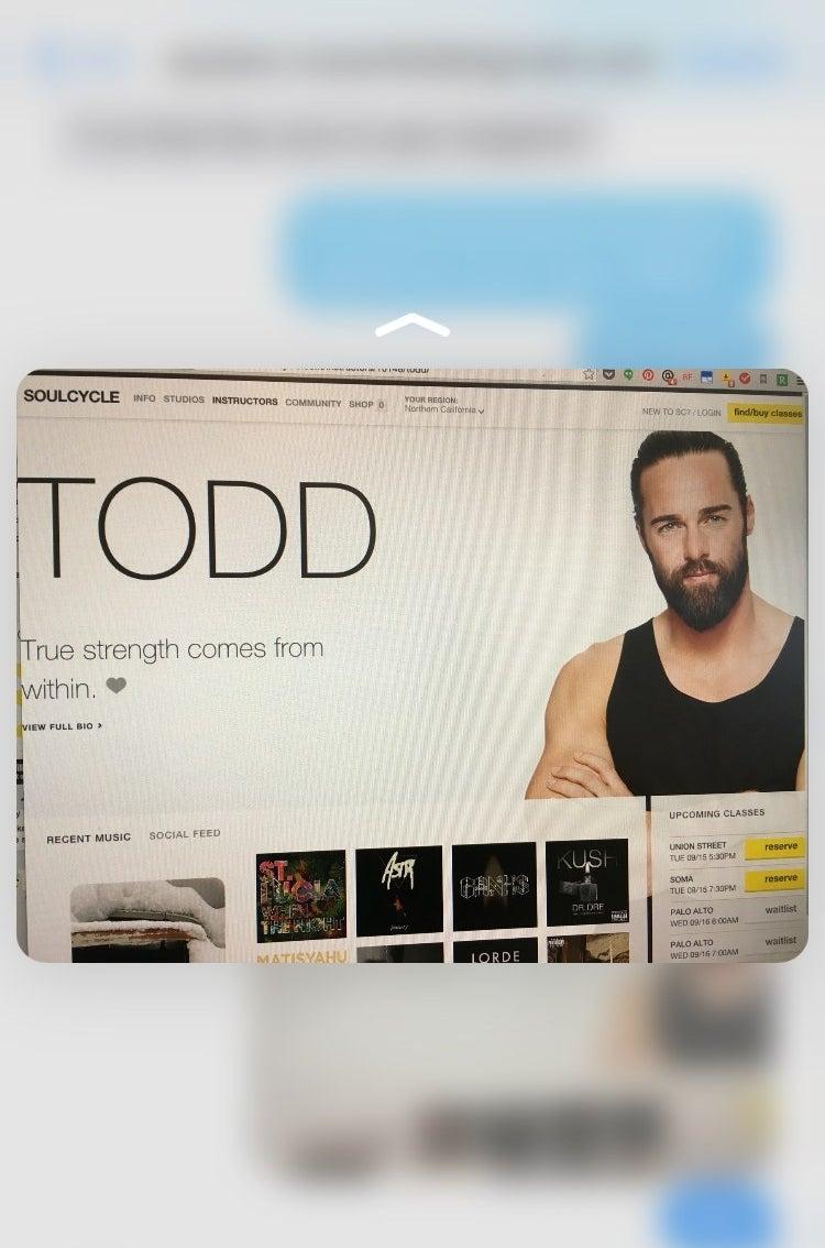 """""""Peeking"""" Todd. Hi Todd."""