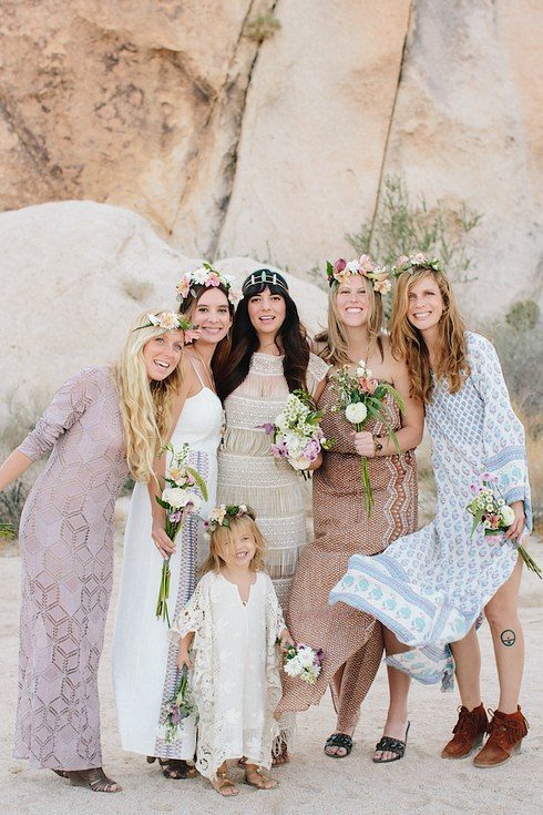 Boho Wedding Dress Buzzfeed : Real life bridal parties who nailed the mix n match look