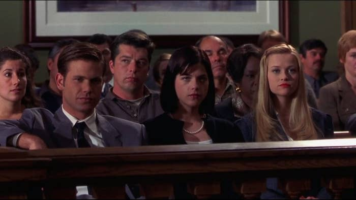 OK you can't actually see her outfit, but we can all agree that serious lawyer Elle was never going to get top spot.
