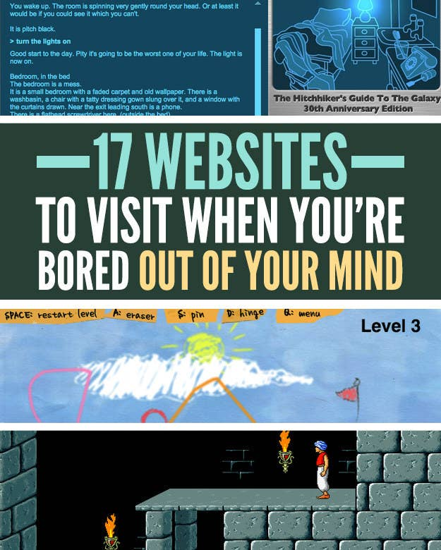 Websites To Visit When Youre Bored Out Of Your Mind