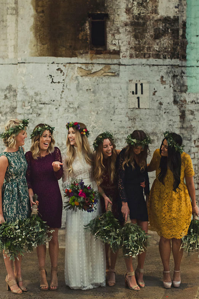 db846cf7f7e 31 Real-Life Bridal Parties Who Nailed The Mix  N  Match Look