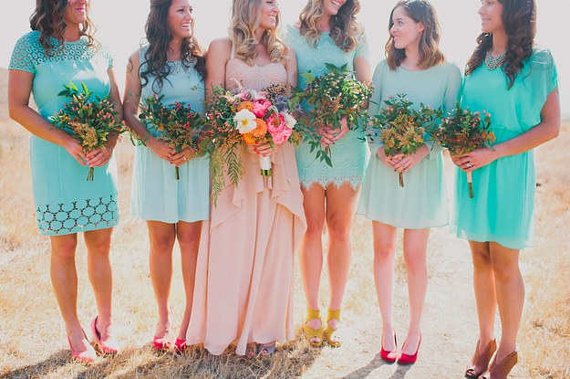 939ad23695 31 Real-Life Bridal Parties Who Nailed The Mix  N  Match Look