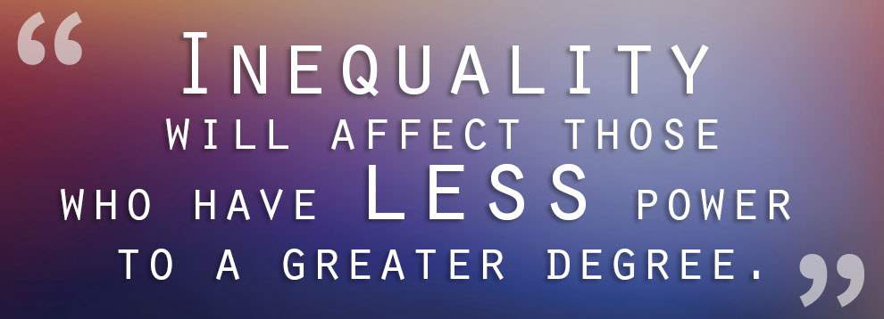 gender and life chances The major examples of social inequality include income gap, gender affects and is affected by almost every aspect of social life and one's life chances.