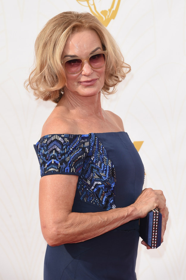 transition lenses 0sjb  1 Our Lady of Perfection, Jessica Phyllis Lange, showed up to the Emmys  this evening And she looked so hot, she had to wear her transition lenses