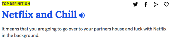 Netflix and chill definition